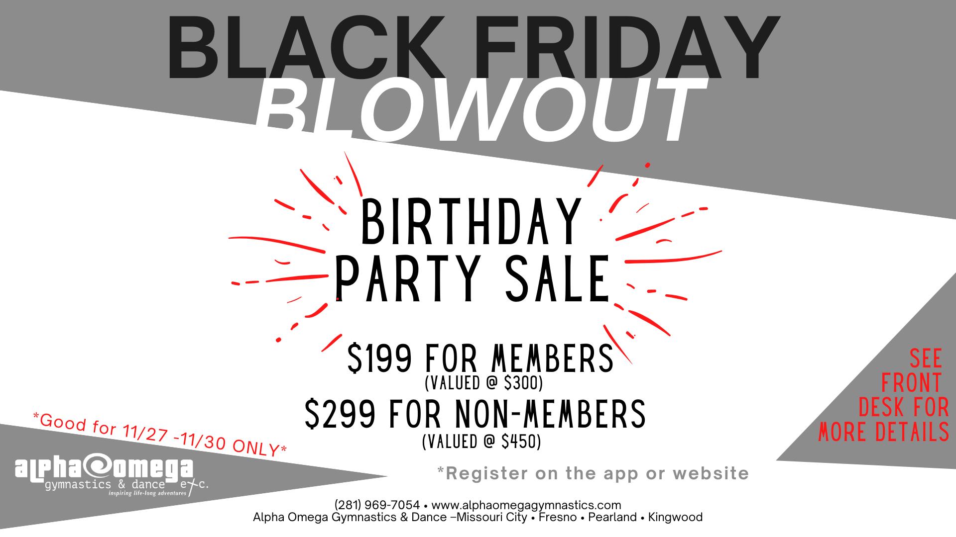 Black Friday Blowout Sale 2021